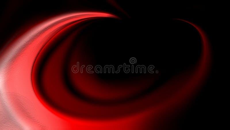 红色抽象传染媒介被遮蔽的波浪背景墙纸 生动的颜色传染媒介例证 库存照片