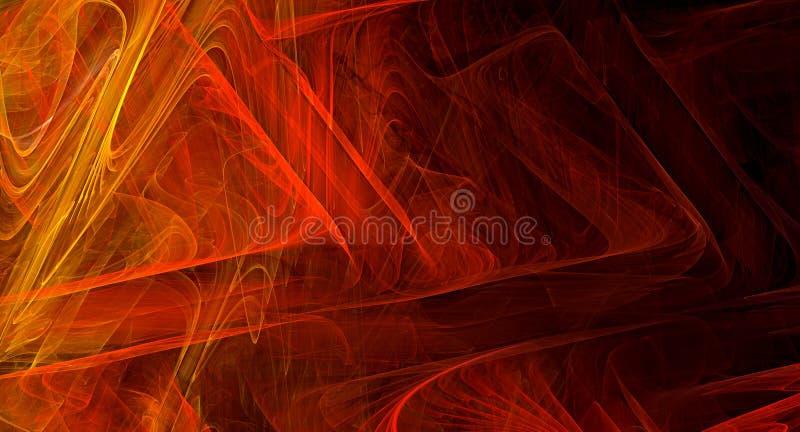 红色抽象分数维背景 库存图片