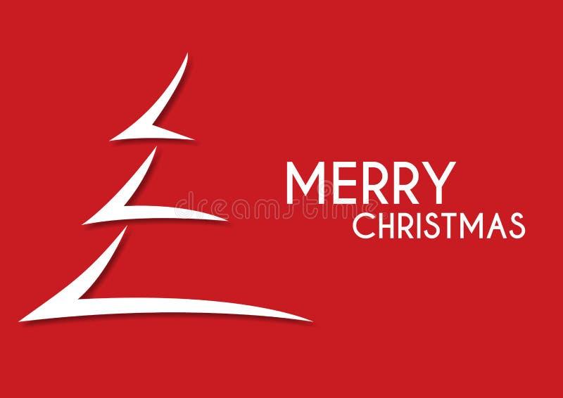 红色抽象圣诞快乐树箭头 库存例证
