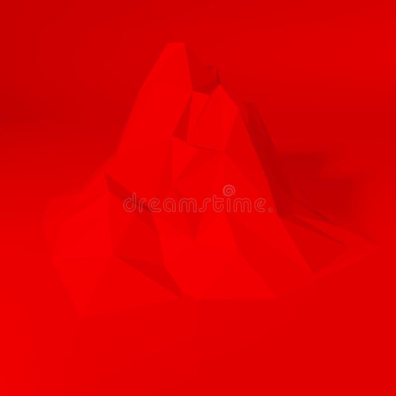 红色抽象多角形背景 向量例证