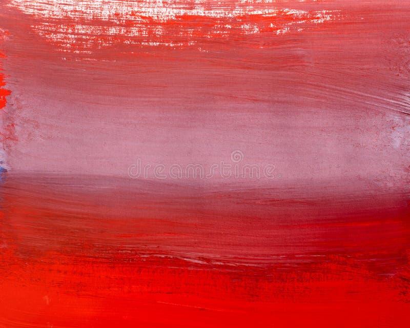 红色抽象树胶水彩画颜料背景树荫  免版税图库摄影