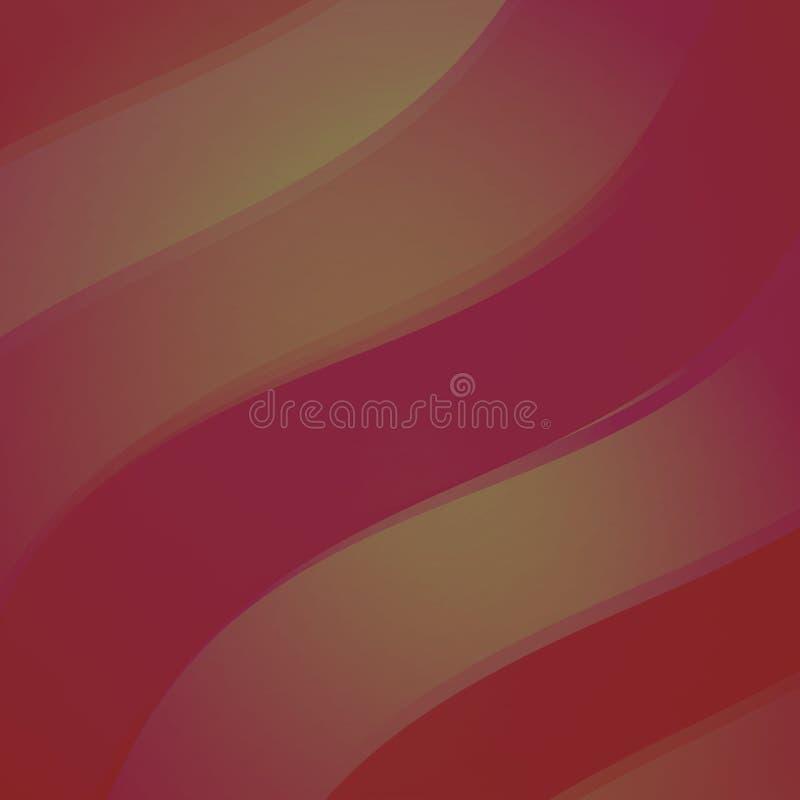 红色抽象波浪 皇族释放例证