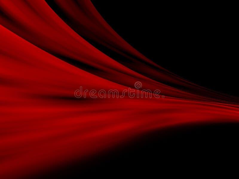 红色抽象的窗帘 向量例证
