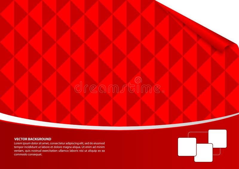 红色抽象空的背景 库存例证