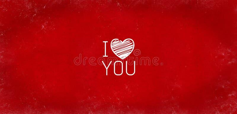 红色抽象织地不很细背景为华伦泰` s天 背景华伦泰` s天爱心脏节日红色猩红色小插图textur 皇族释放例证