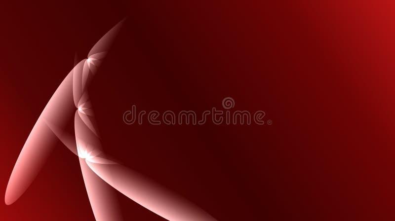 红色抽象衬里传染媒介3 D阴影背景 皇族释放例证
