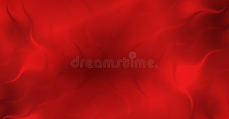 红色抽象衬里流洒了3个d背景墙纸 向量例证