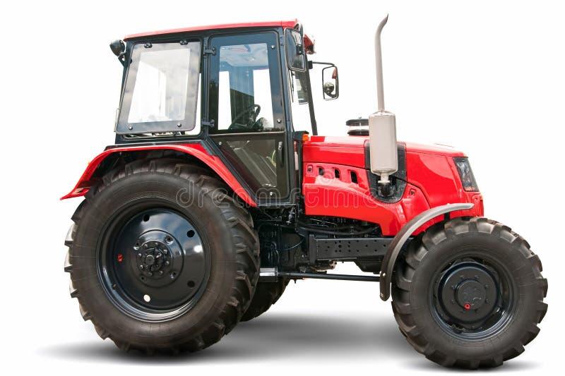 红色拖拉机 库存图片