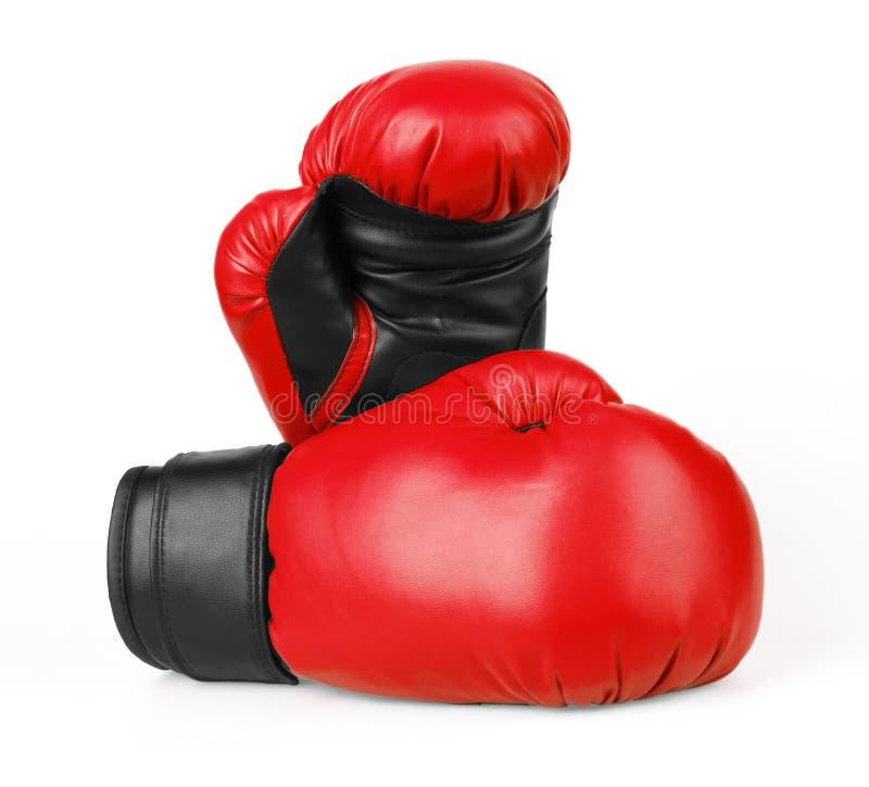 红色拳击手套 图库摄影