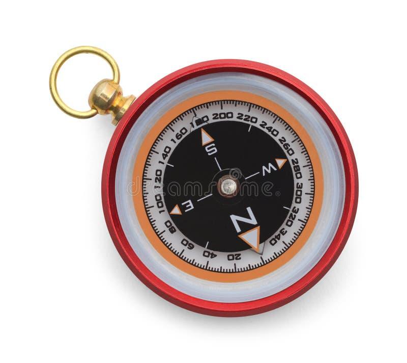 红色指南针上面 库存图片