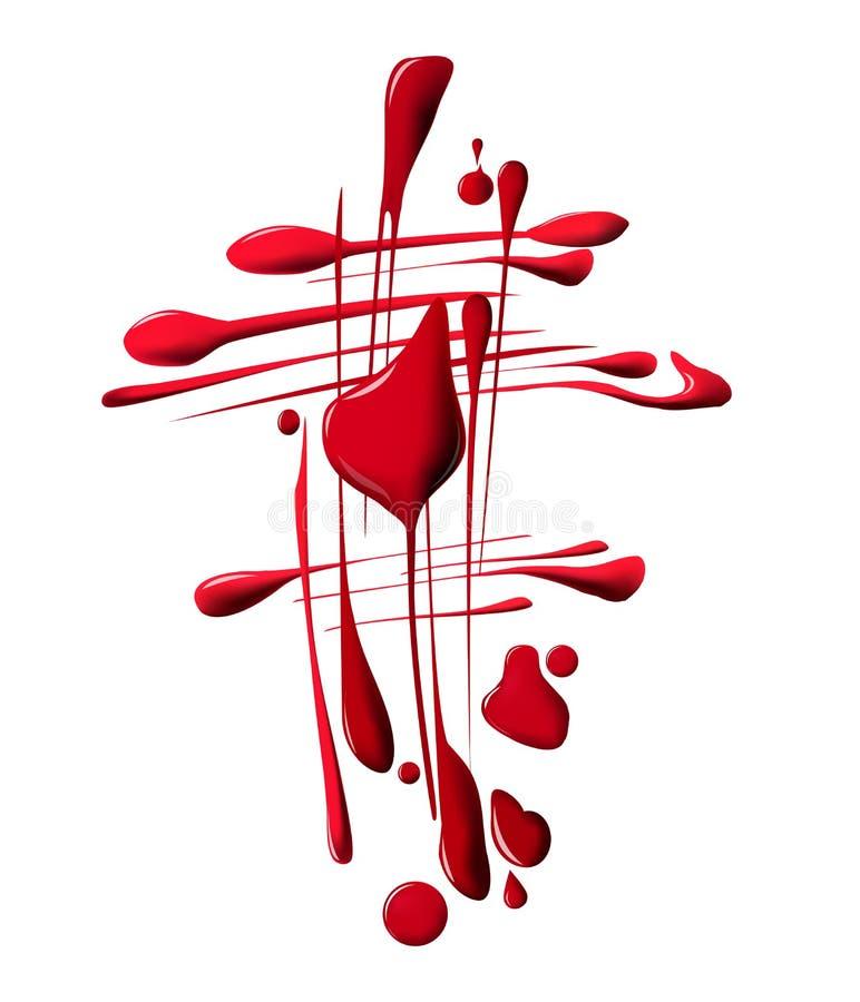 红色指甲油下落  秀丽和化妆用品背景 查出在白色 向量 向量例证