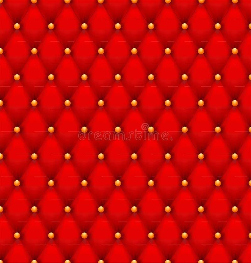 红色按钮装缨球天鹅绒背景。 皇族释放例证