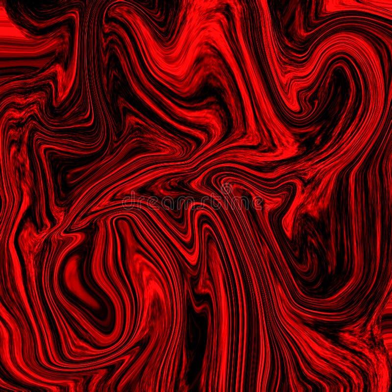 红色摘要幻想大理石纹理背景 皇族释放例证