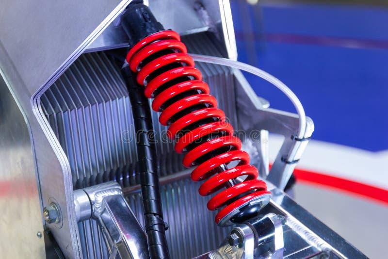 红色摩托车缓冲器 库存图片