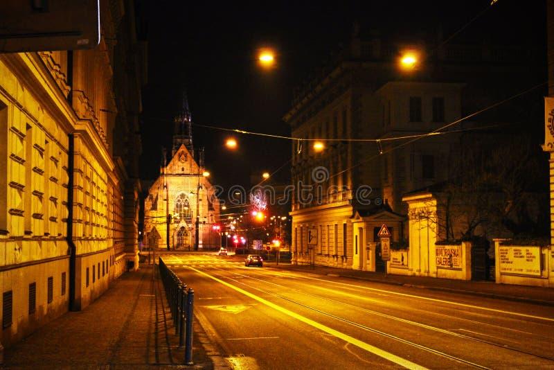 红色教会在布尔诺 免版税图库摄影