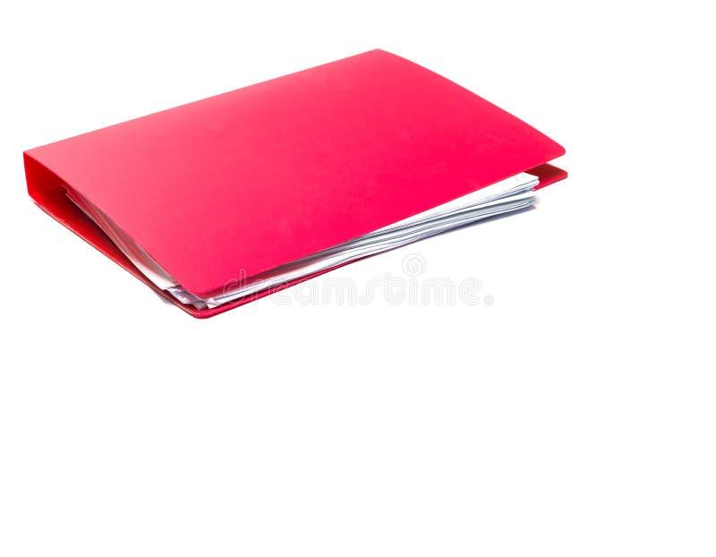 红色文件夹 被隔绝的拷贝空间 库存图片