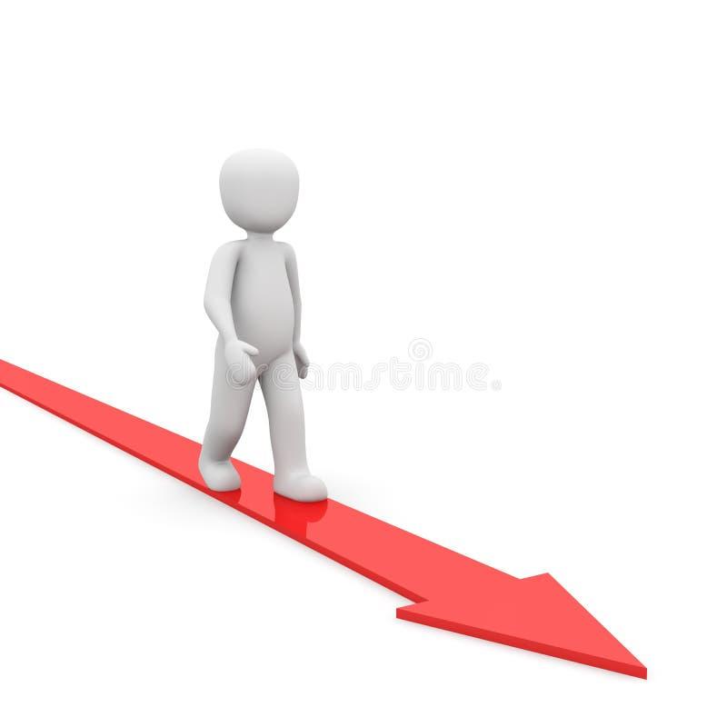 红色方式 向量例证