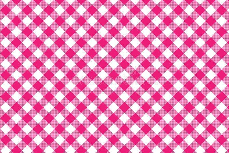 红色方格花布样式 从菱形/正方形-格子花呢披肩的,桌布,衣裳,衬衣,礼服,纸,卧具,毯子的纹理, 向量例证