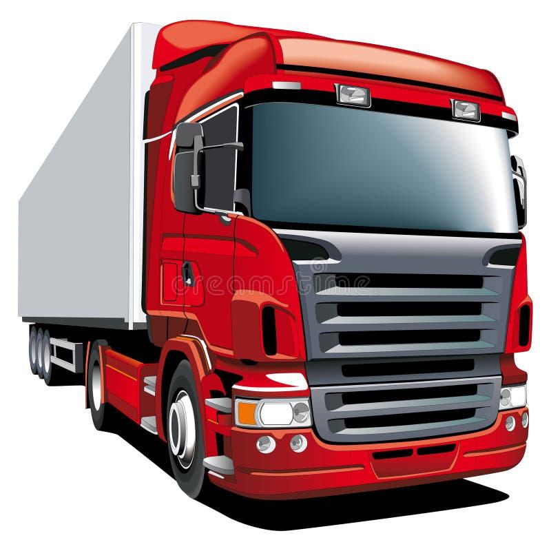 红色无盖货车 库存例证