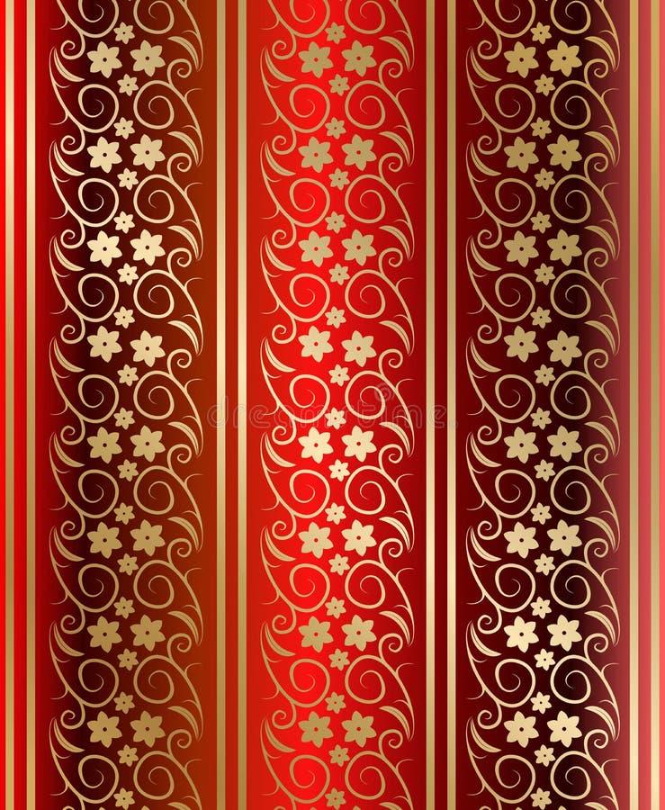 红色无缝的纹理向量 皇族释放例证