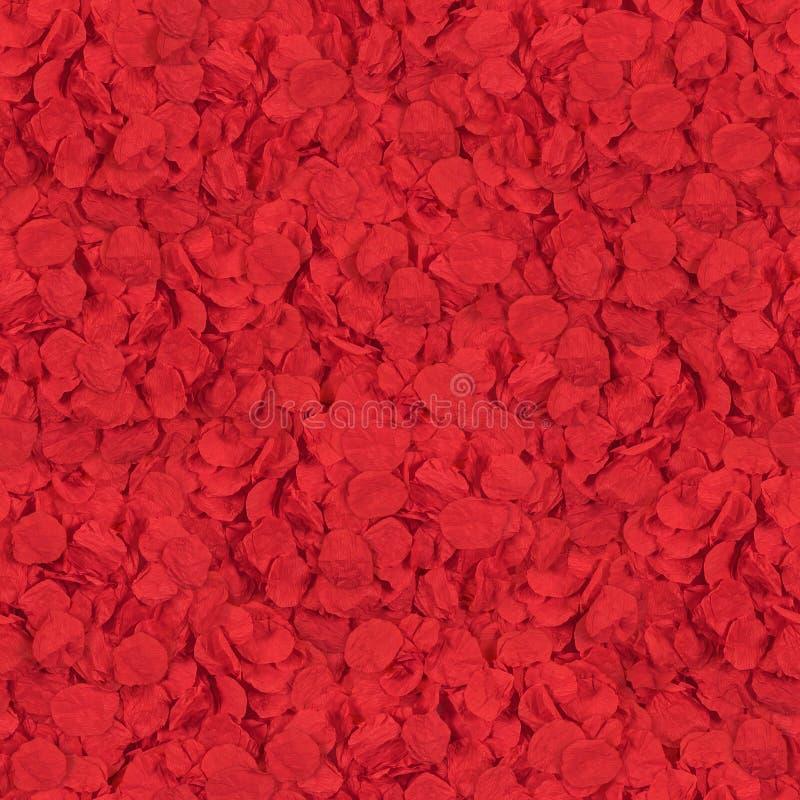 红色无缝的纹理开花瓣 图库摄影