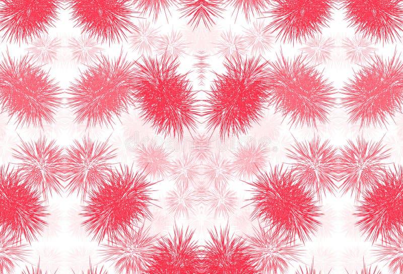 红色无缝的背景样式 库存例证