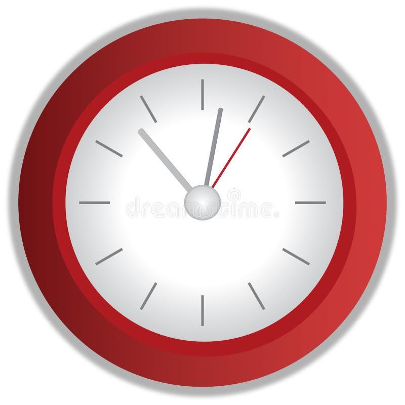 红色时钟 免版税库存照片