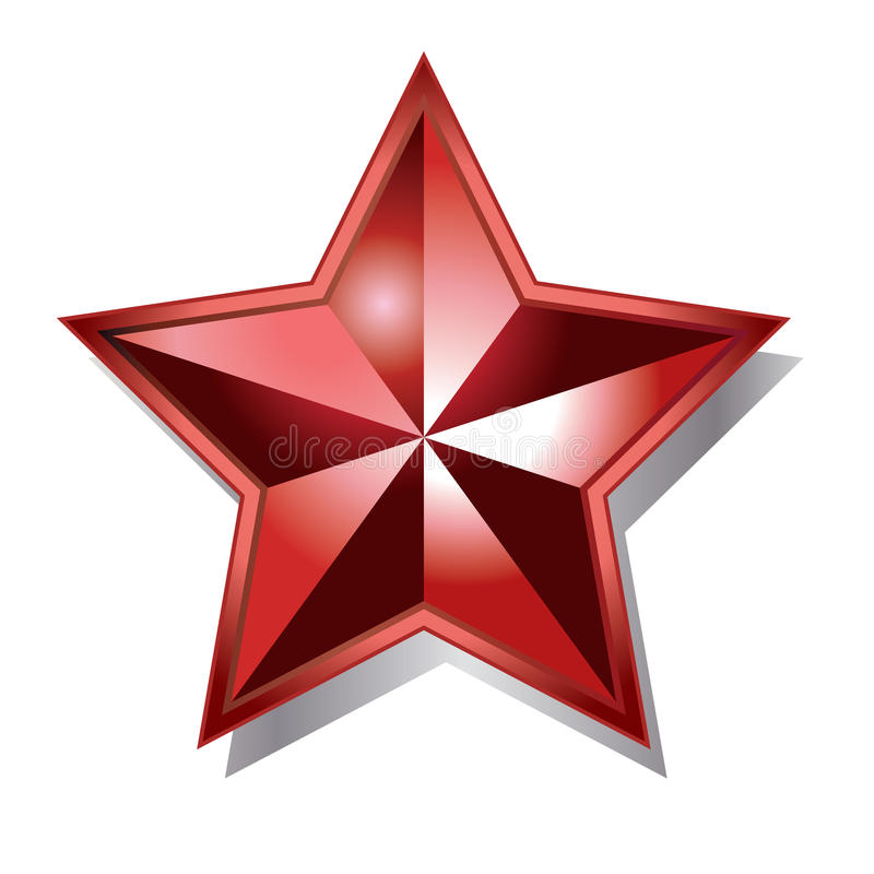 红色星形 向量例证