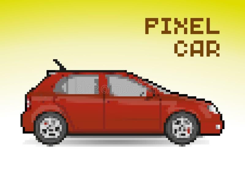红色映象点汽车 向量例证