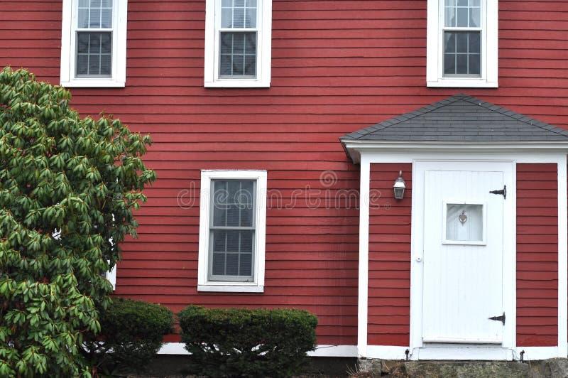 红色木之家 免版税库存照片