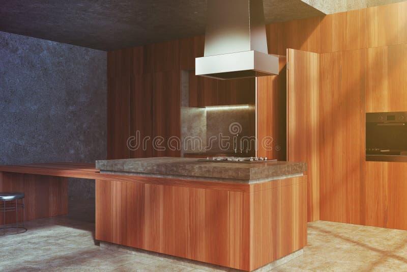 红色木厨台,垄断定调子 皇族释放例证