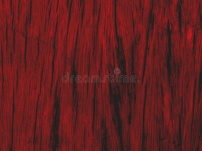 红色木纹理 库存图片