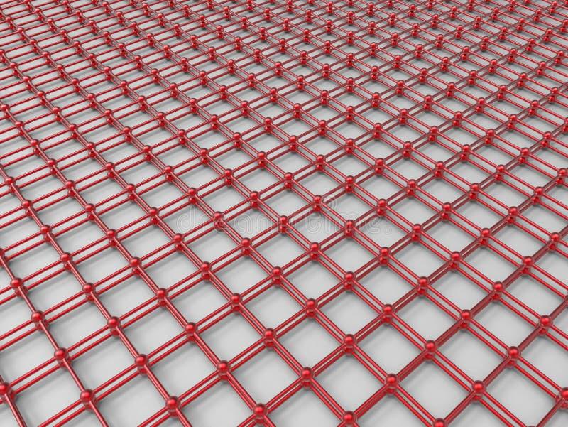 红色栅格网络概念 向量例证