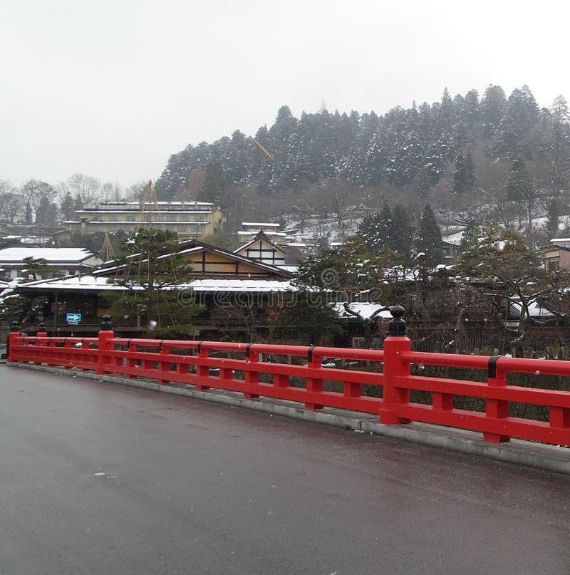 红色桥梁 免版税图库摄影