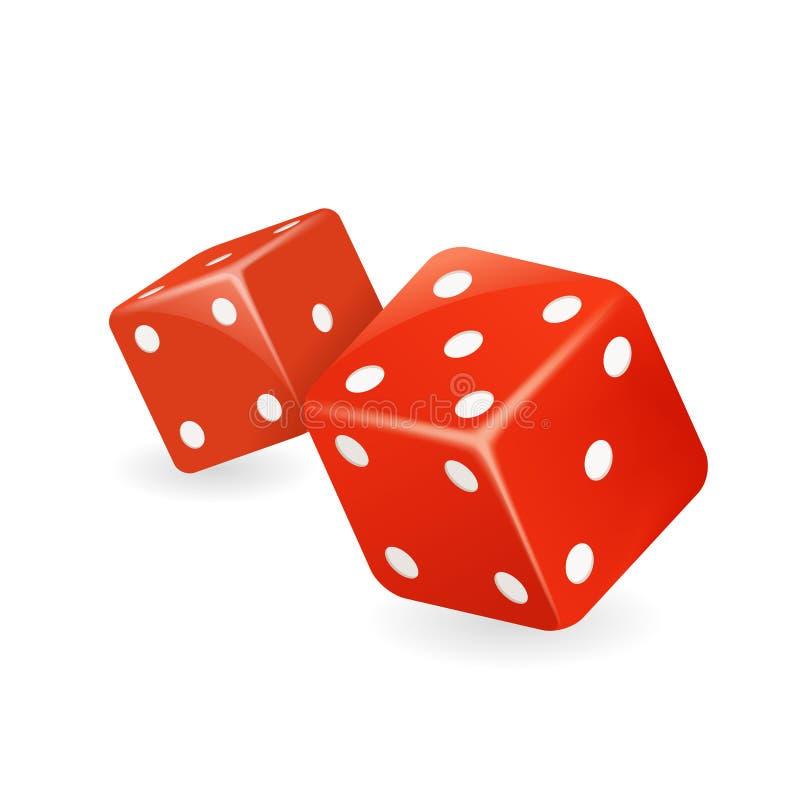 红色模子3d现实赌博娱乐场赌博游戏deisgn被隔绝的象传染媒介例证 皇族释放例证