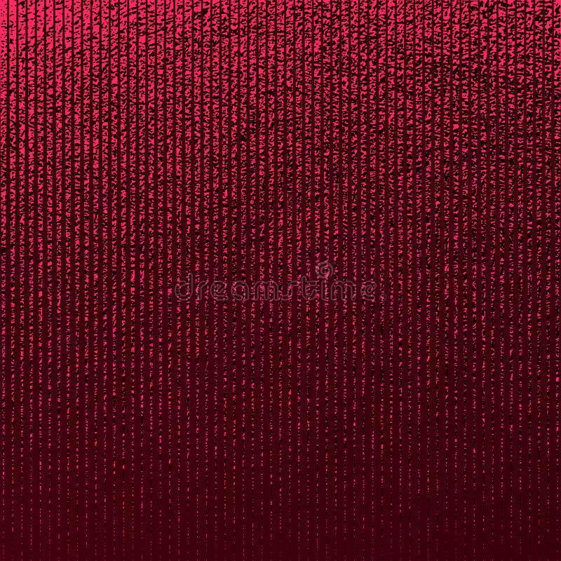 红色模式 抽象绯红色背景 褐红的传染媒介例证 猩红色闪烁条纹 深红箔纹理 豪华patte 库存例证