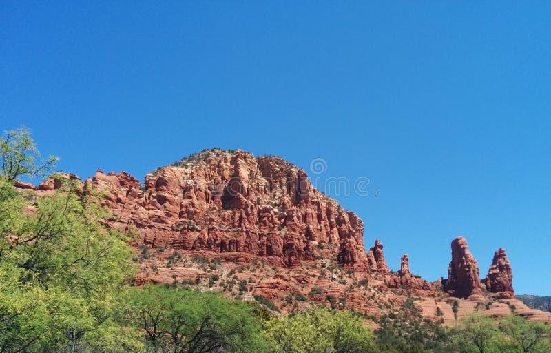 红色橙色岩层在塞多纳,AZ 库存图片