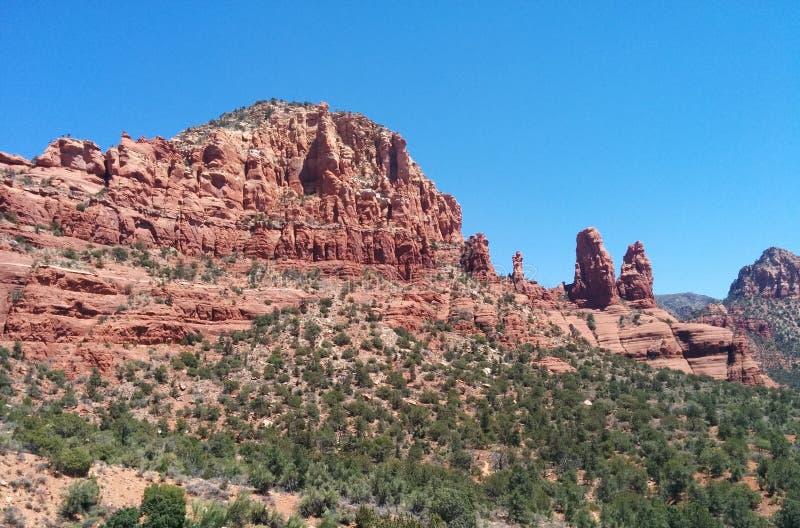 红色橙色岩层在塞多纳,AZ 免版税库存照片