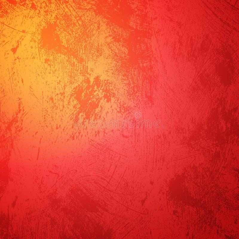 红色橙色难看的东西圣诞快乐背景 库存例证