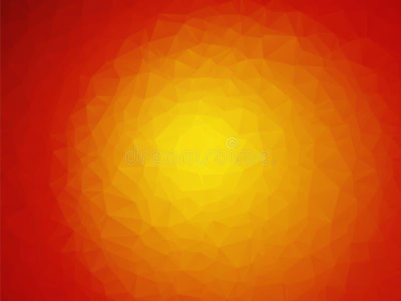 红色橙黄背景 向量例证