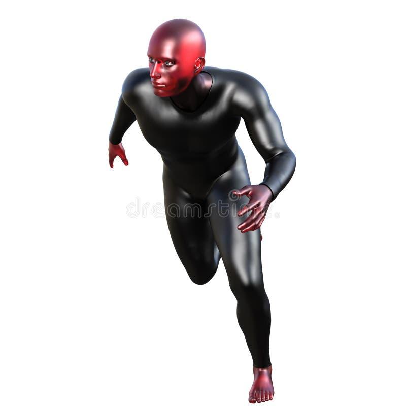红色橡胶的超级人英雄 免版税库存照片