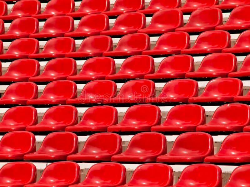 红色正常位子 免版税库存照片