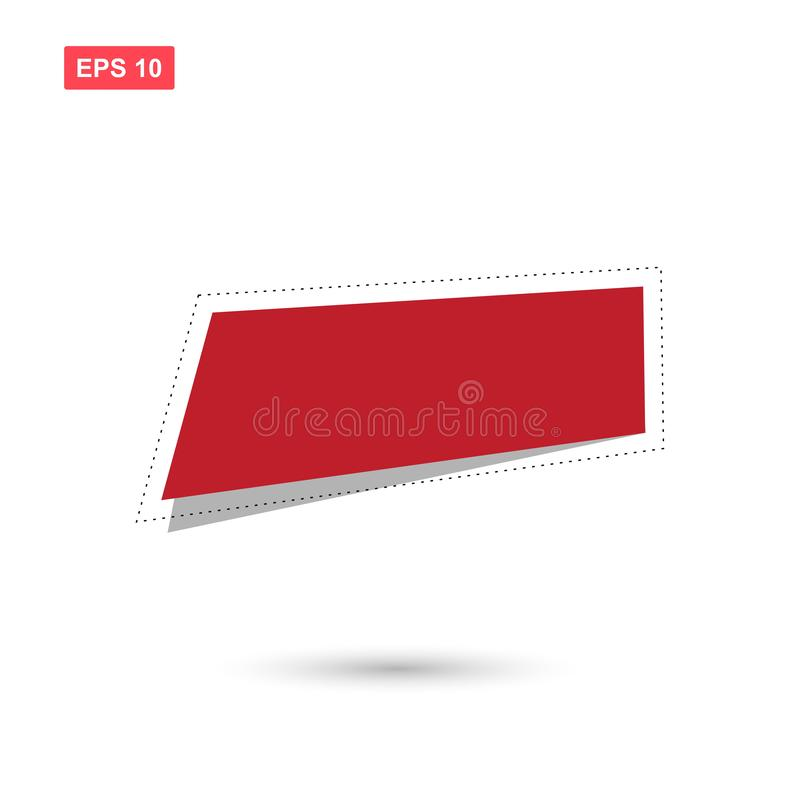 红色正文框传染媒介设计隔绝了5 向量例证