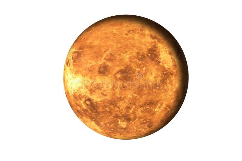 红色死的火行星 在白色隔绝的空间的死的行星 这个图象的元素由美国航空航天局装备 免版税库存图片
