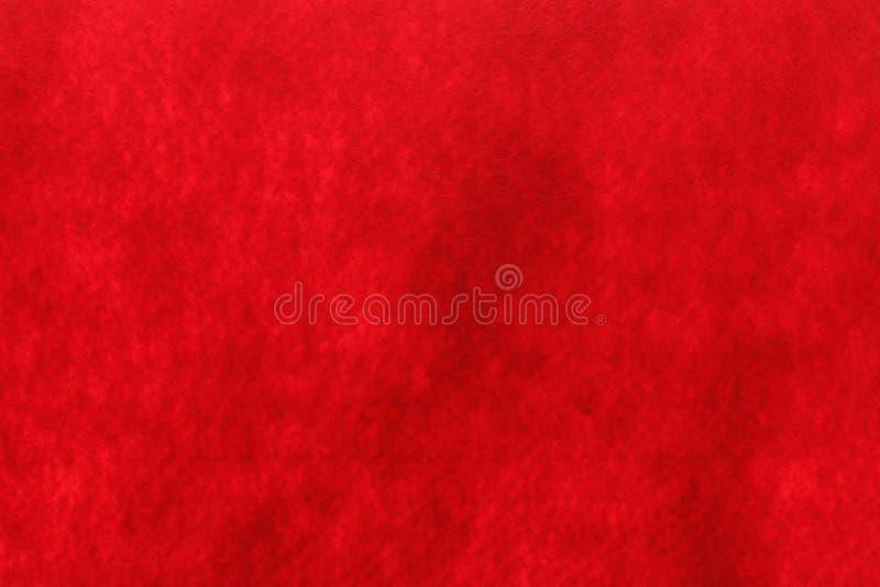 红色毛毡纹理背景 库存图片
