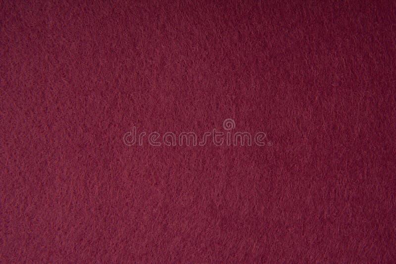 红色毛毡织品纹理 库存照片