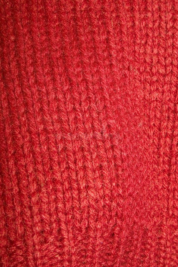 红色毛线衣 免版税库存照片
