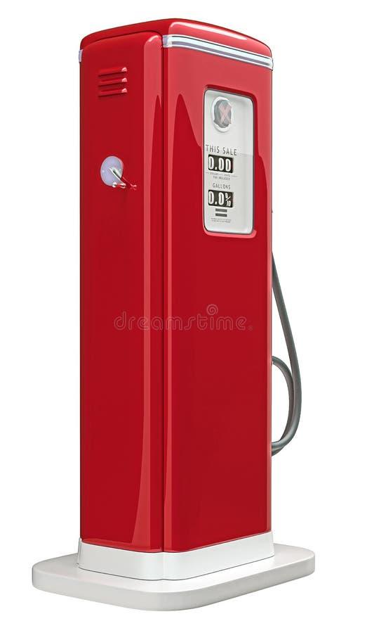 红色气泵被隔绝在白色 皇族释放例证