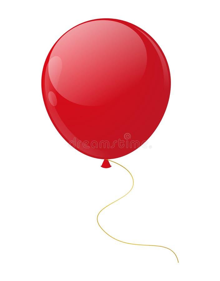 红色气球 皇族释放例证