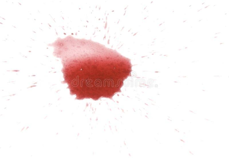红色污点酒 库存照片